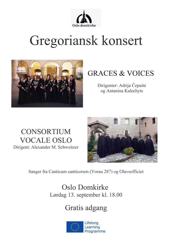 Plakat konsert CV og Graces and Voices
